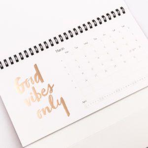 gedrukte kalender